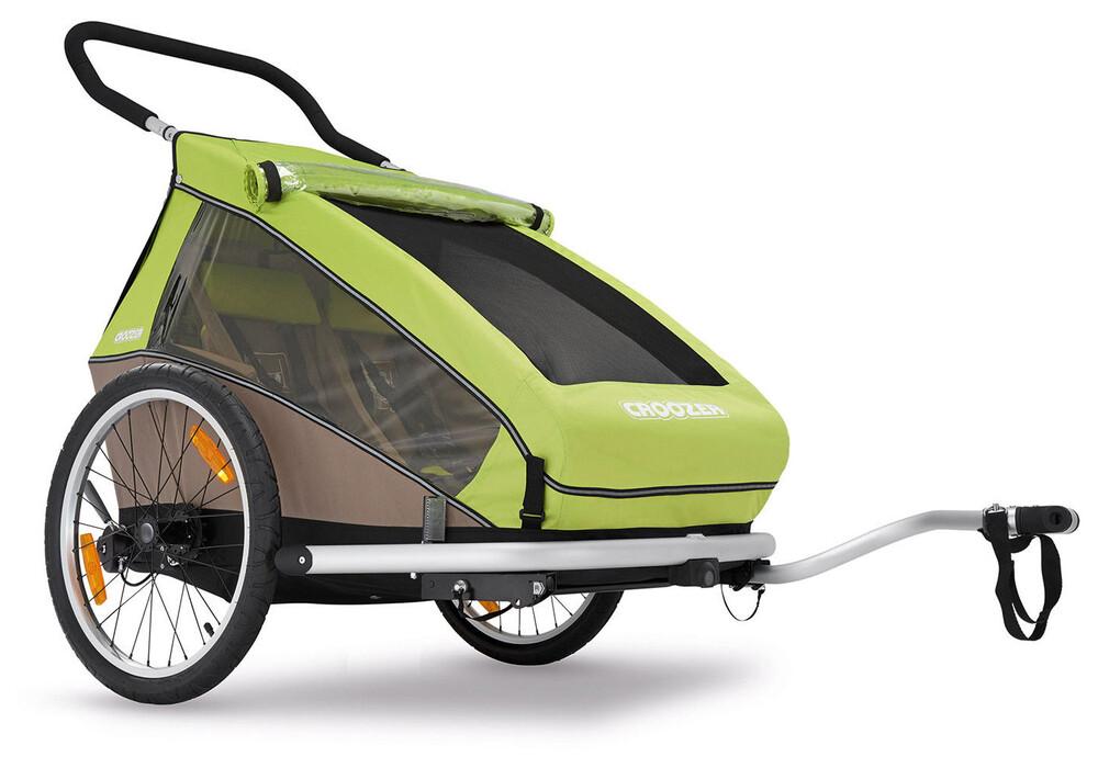 croozer kid for 2 fietstrailer beige groen i eenvoudig. Black Bedroom Furniture Sets. Home Design Ideas